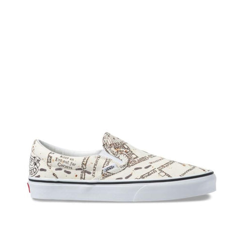 Vans X Harry Potter Classic Slip-on Marauders Map/Classic White VN0A4BV3V3C