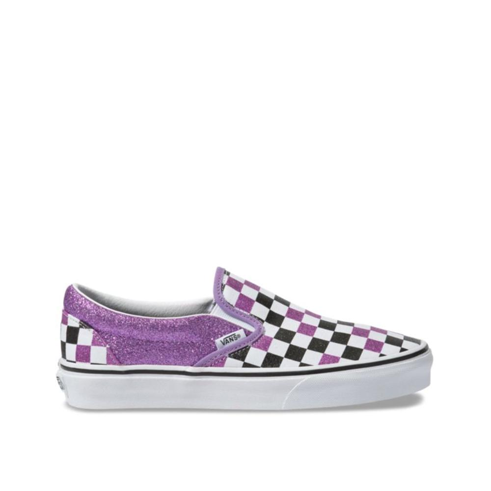 Vans Glitter Checkerboard Slip-On Fairy Wren/True White  VN0A4BV3V8Y