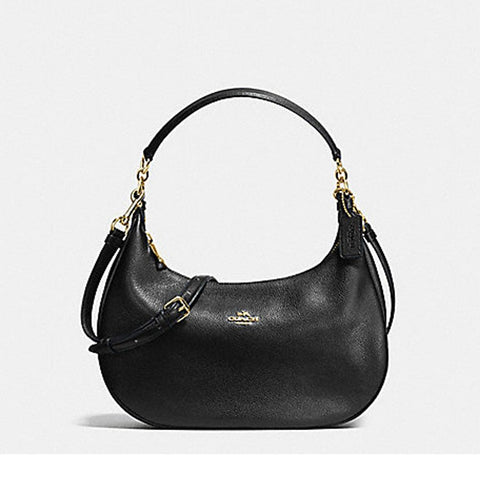 Coach Harley East/West Hobo In Pebble Leather Black F38250