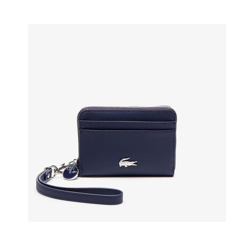Lacoste Women's Daily Classic Small Coated Canvas Wallet Peacoat NF2778DC 021
