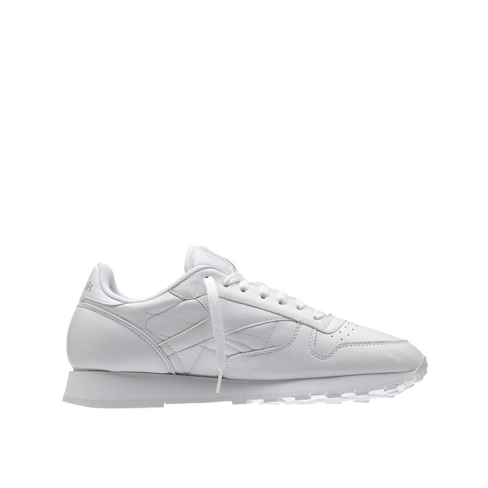 cc63b18019a Reebok Mens Classic Leather White White Grey 9771 – APLAZE