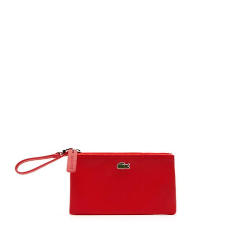 Lacoste Women's  L.12.12 Concept Zip Clutch Bag High risk red  NF2036PO-883