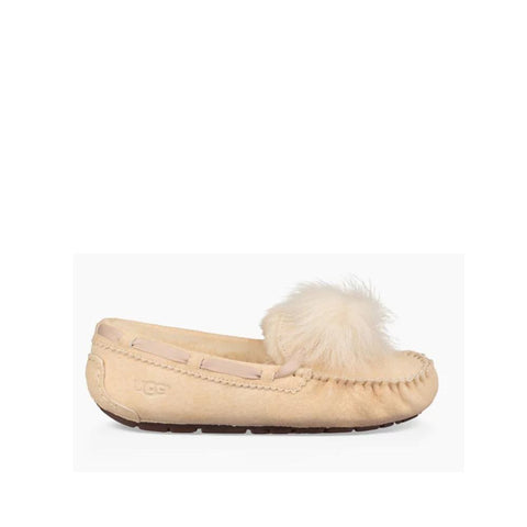 Ugg Womens Dakota Pom Pom Cream 1019015