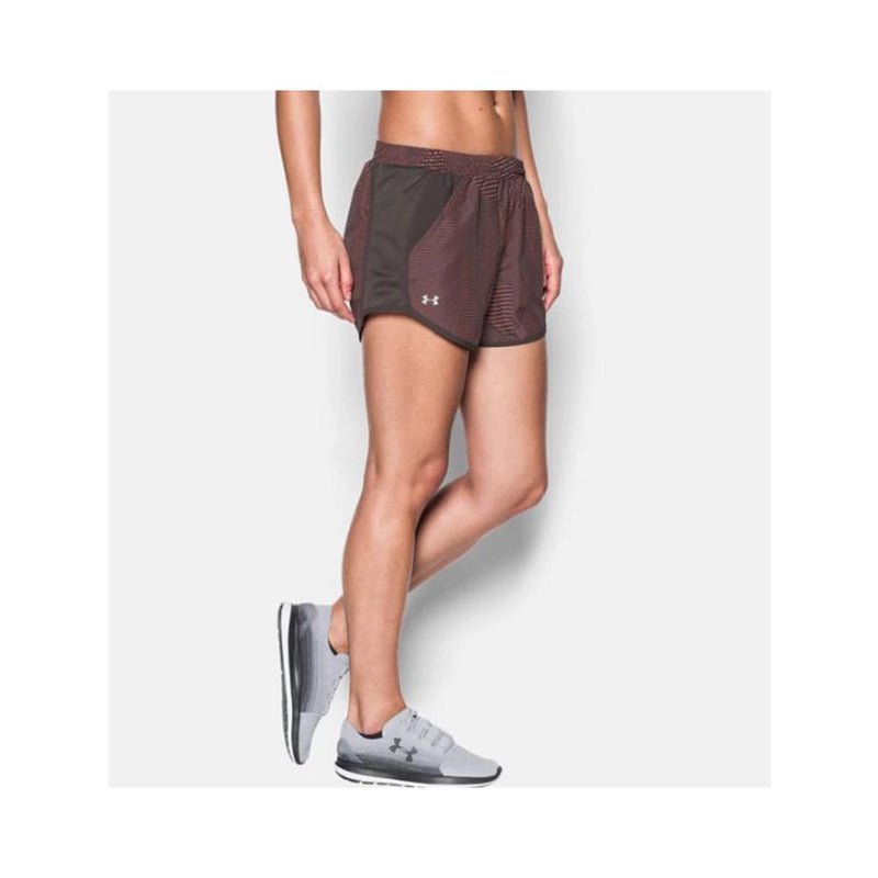 Under Armour Women's UA Fly-By Perforated Shorts Charcoal 1297126-019