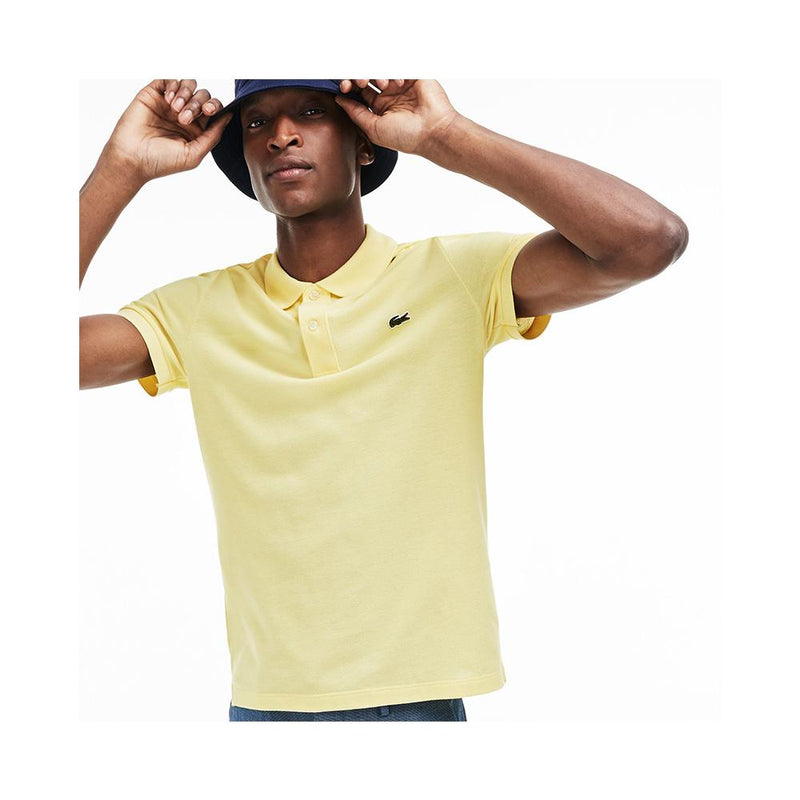Lacoste Men's Slim fit Petit Pique Polo Shirt Napolitan Yellow PH4012-51 6XP