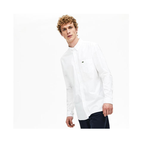 Lacoste Men's Regular Fit Cotton Oxford Shirt CH4976-51 001 White