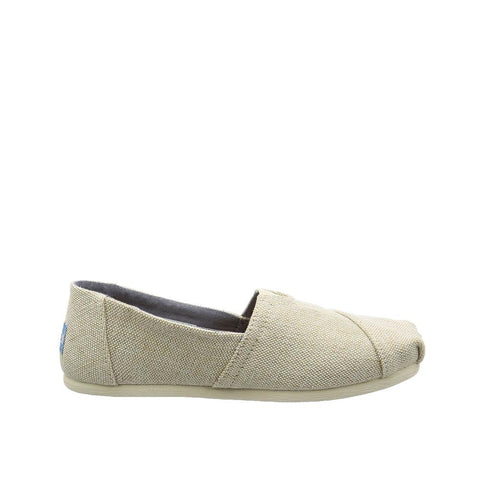 Toms Womens Canvas Slip-on Alpargata Flat Natural Metallic 10009756
