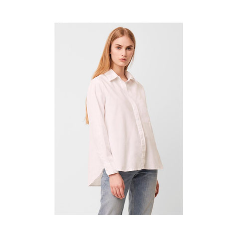 French Connection Siti Oxford Popover Shirt Linen White 72NAJ
