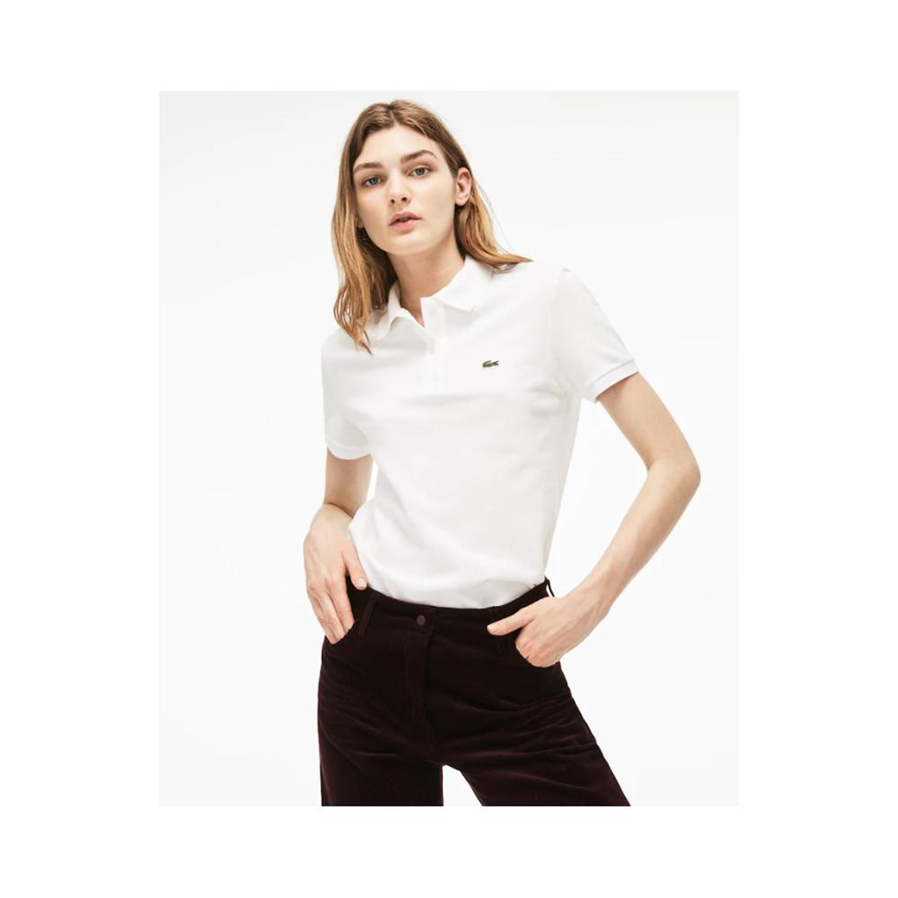 Lacoste Women's Classic Fit Soft Cotton Petit Piqu?? Polo Shirt White PF7839 51 001