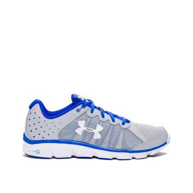 Under Armour Men's Micro G Assert 6 Running  Shoes Amalgam Grey Ultra Blue White 1266224-064