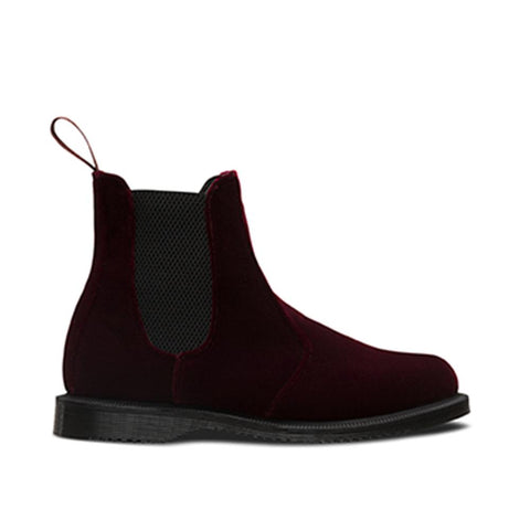 Dr. Martens Flora Velvet Cherry Red Ze You Velvet R23962600