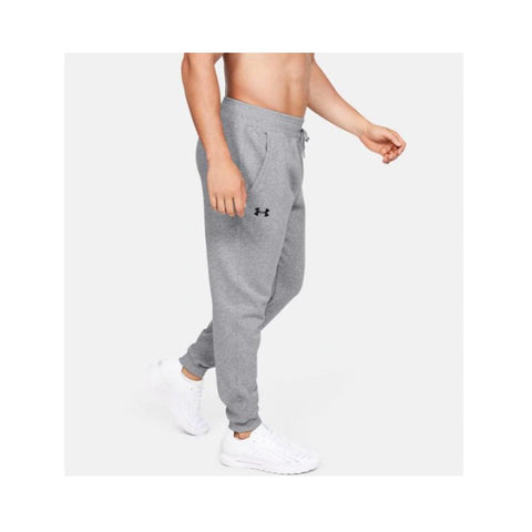 Under Armour UA Men's Hustle Fleece Jogger True Gray Heather - Black 1317455-025