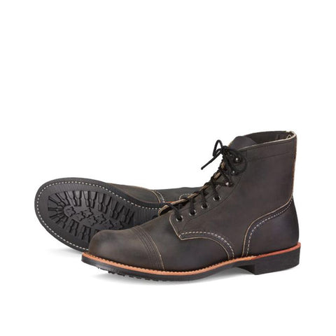 Red Wing Style No. 8086 Iron Ranger Charcoal Rough & Tough Leather