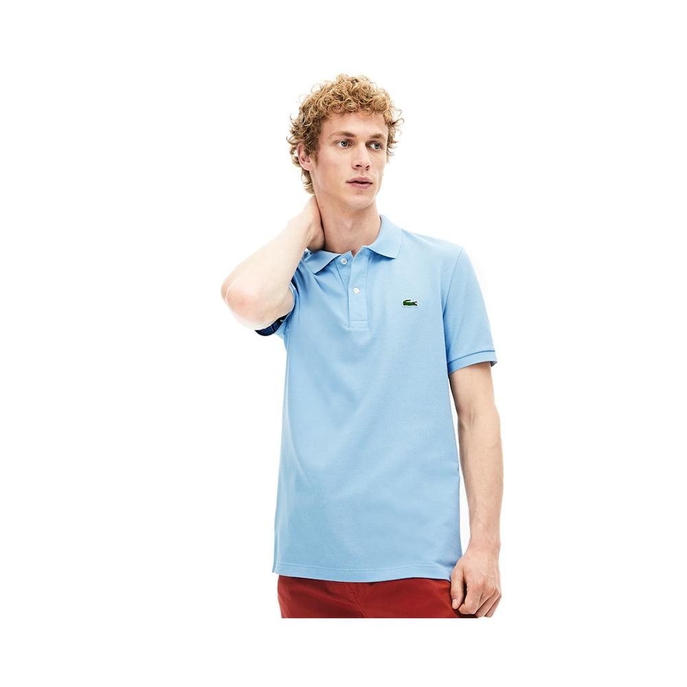 Lacoste Men's Slim fit Petit Pique Polo Shirt Breeze PH4012-51 B9Y