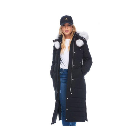 Moose Knuckles Saskatchewan Parka Black with Natural Fox fur  MK4660LLP-290