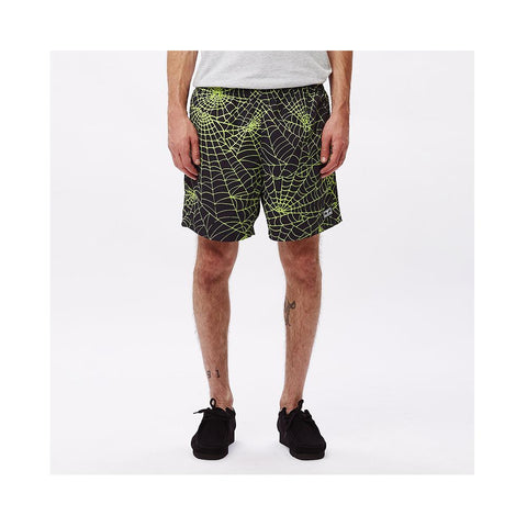 Obey Easy Relaxed Web Short Lime Multi 172120062