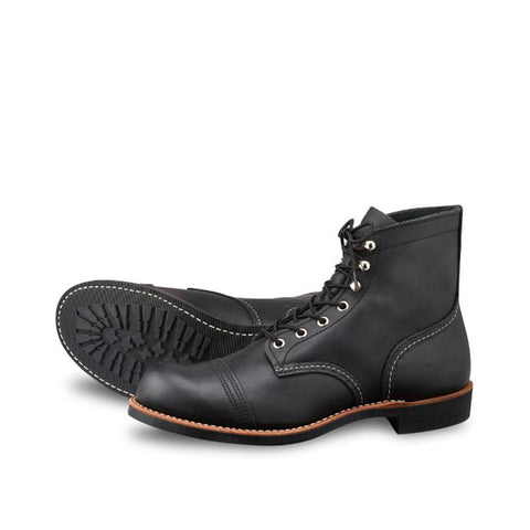 Red Wing  Style No. 8084 Iron Ranger Black Harness Leather