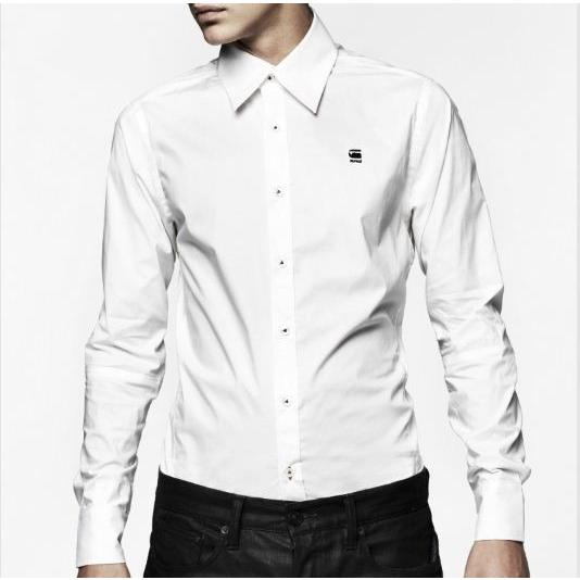G STAR RAW CL BASE CORE SHIRT LONG SLEEVE WHITE   83900.3315.110