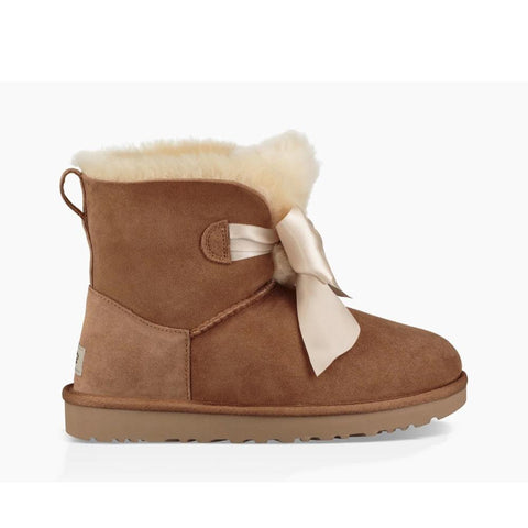 Ugg Womens Gita Bow Mini Chestnut 1098360