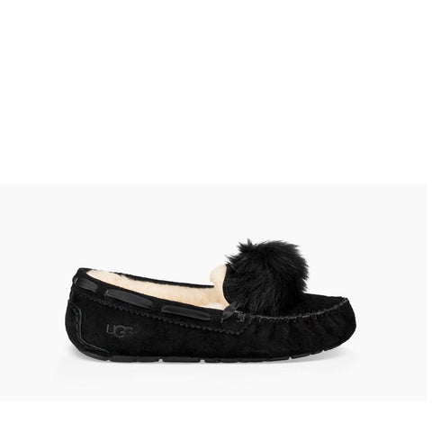 Ugg Womens Dakota Pom Pom Black  1019015