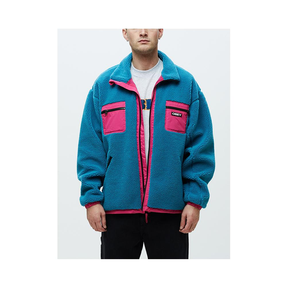 Obey Out There Sherpa Jacket Pure Teal 121800383