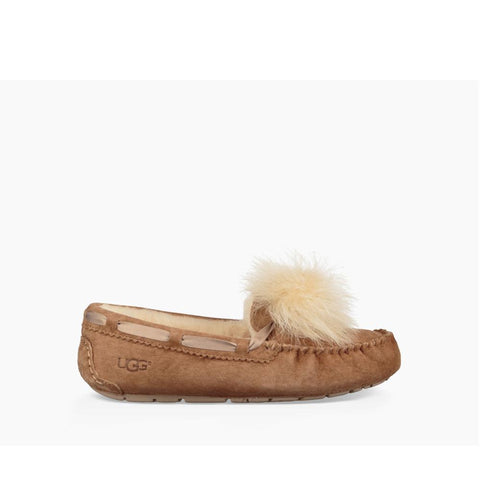 Ugg Womens Dakota Pom Pom Chestnut 1019015