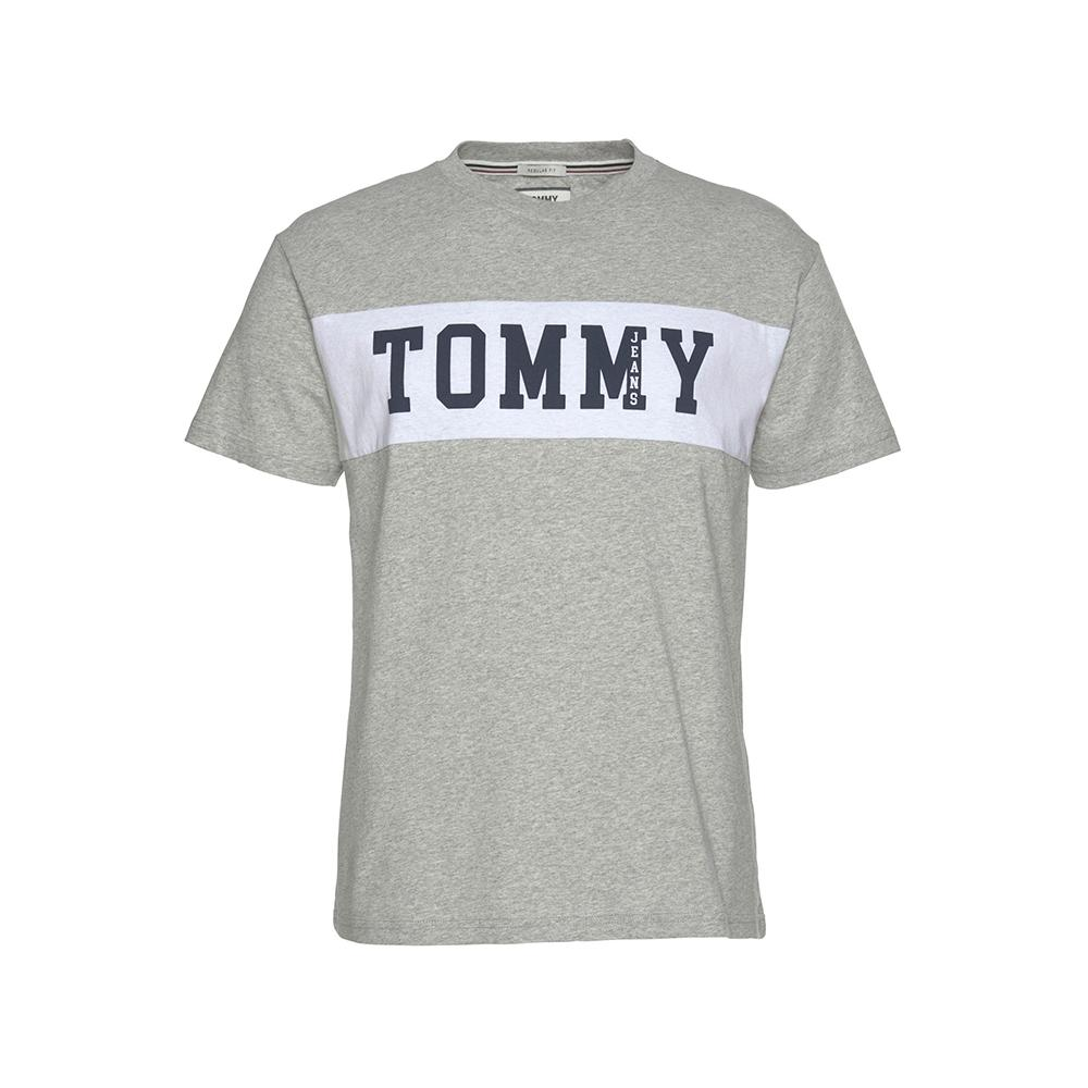 Tommy Hilfiger TJM Panel Logo Tee Light Grey Heather DM04534-038