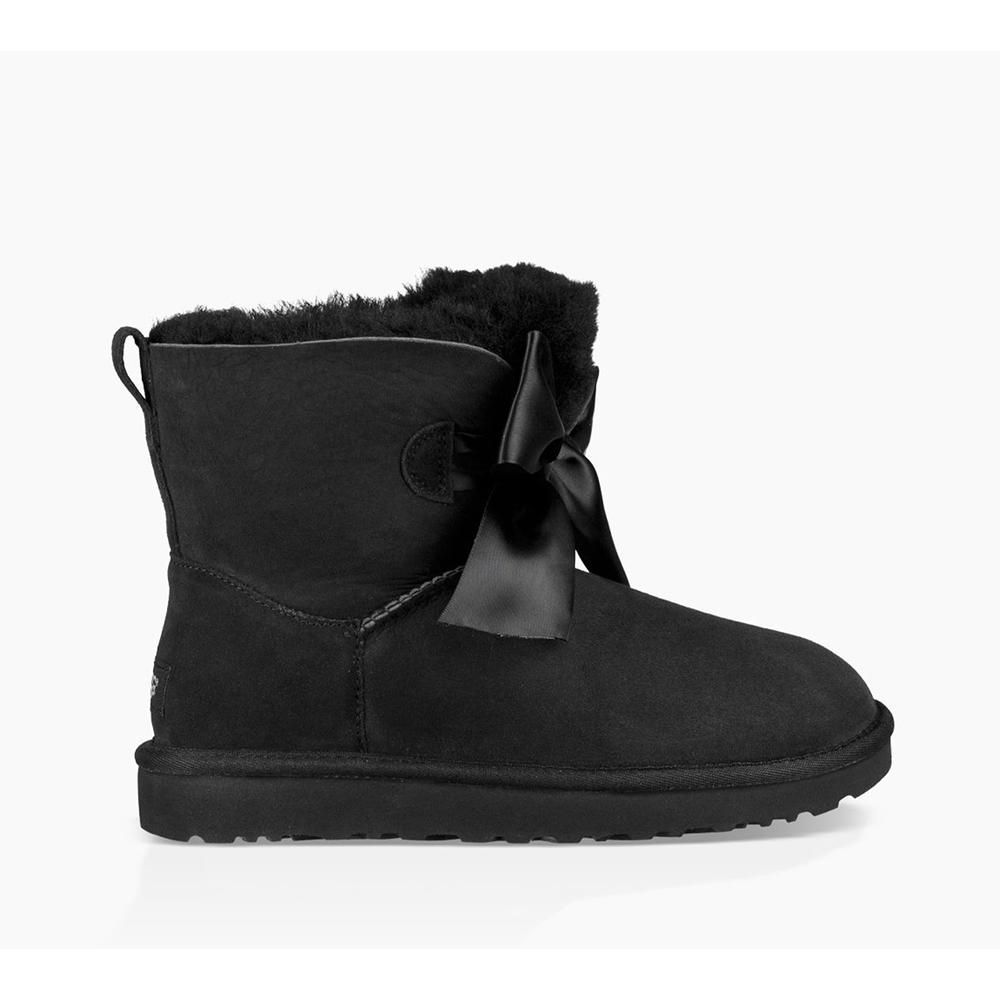 Ugg Womens Gita Bow Mini Black 1098360