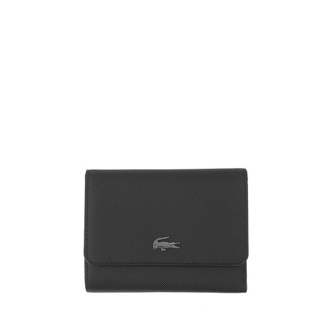 Lacoste Women's Daily Classic Coated Pique Canvas 8 Card Wallet Black NF2539DC-000