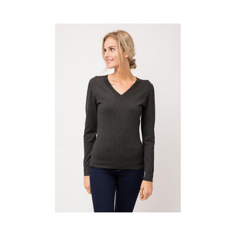 Aplaze Thick Neckline Pull Over Sweater Charcoal Gray SW645