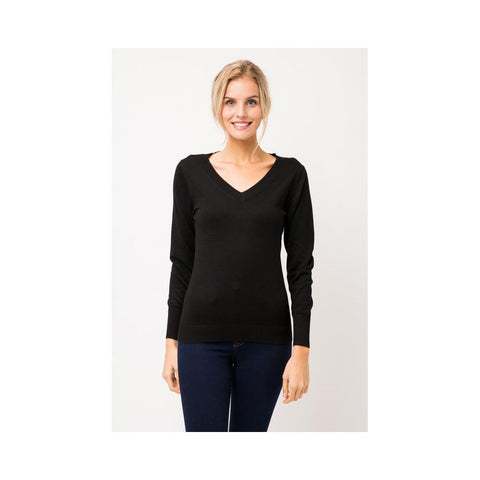 Aplaze Thick Neckline Pull Over Sweater Black SW645