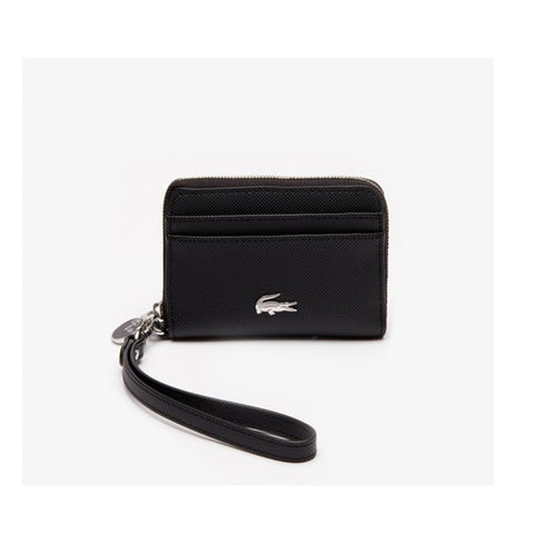 Lacoste Women's Daily Classic Small Coated Canvas Wallet Black NF2778DC 000