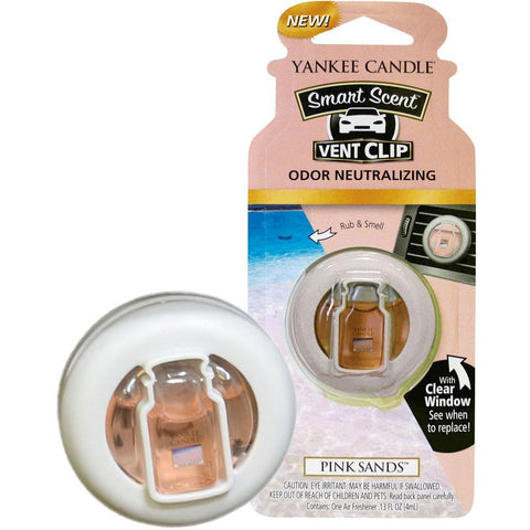 Yankee Candle Car Vent Clip - Pink Sands