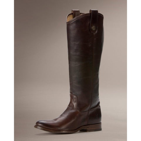 Frye 76430 MELISSA BUTTON BACK ZIP DARK BROWN