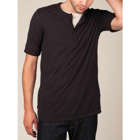 Alternative SHORT-SLEEVE HENLEY Black