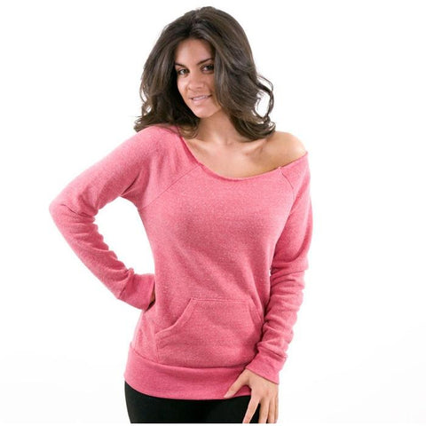 Alternative Apparel Maniac Eco Fleece Sweatshirt Eco Fuchsia #09582F2