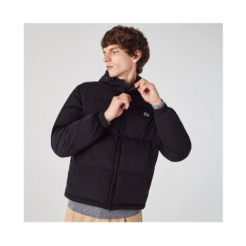 Lacoste Short Lightweight Water-Resistant Puffer Coat Black BH1966-51 031