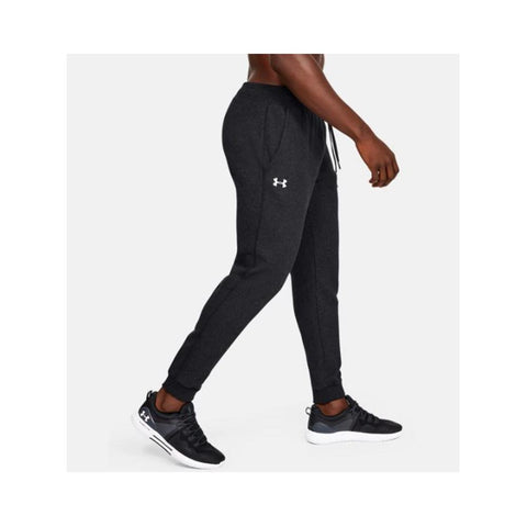 Under Armour Men's UA Hustle Fleece Jogger Black Light Heather/White 1317455-002