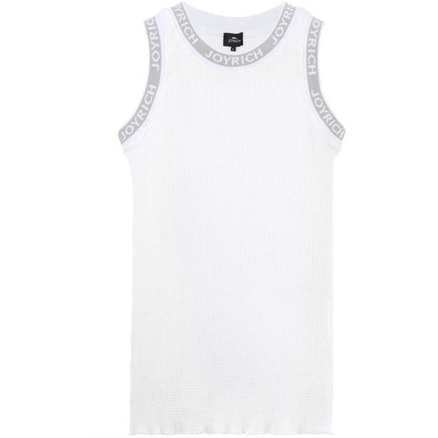 JOYRICH LOGO BAND THERMAL TANK in OFF WHITE