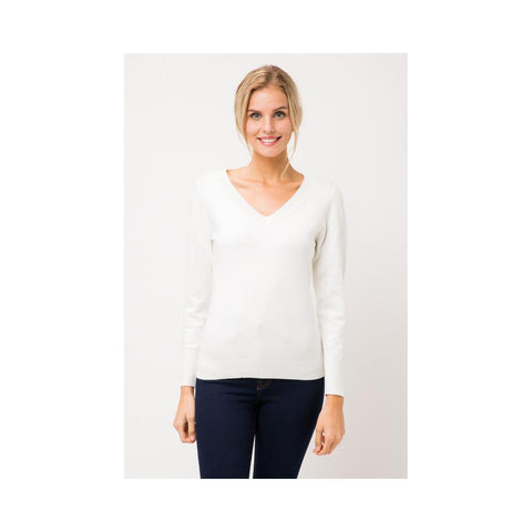 Aplaze Thick Neckline Pull Over Sweater SW645 Ivory SW645