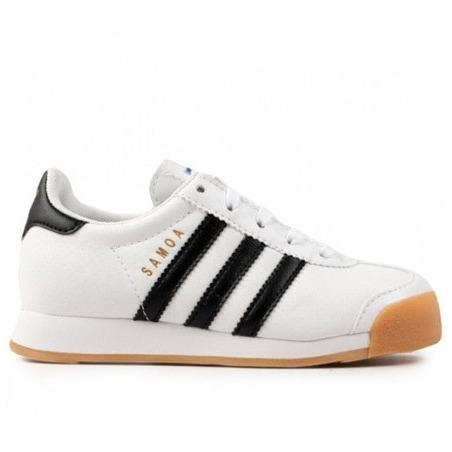 ADIDAS KIDS SAMOA PERF (GUM) in White/Black/Gum/Perf