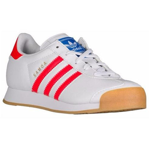 ADIDAS KIDS SAMOA PERF (GUM) in White/Solar Red/Gum/Perf