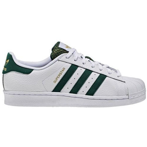ADIDAS Mens Originals Superstar Gold Leather in White/Green