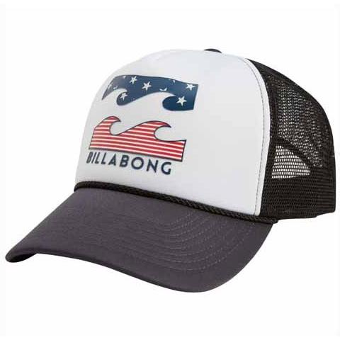 BILLABONG Mens Podium Trucker Hat Americana MAHTFPOD