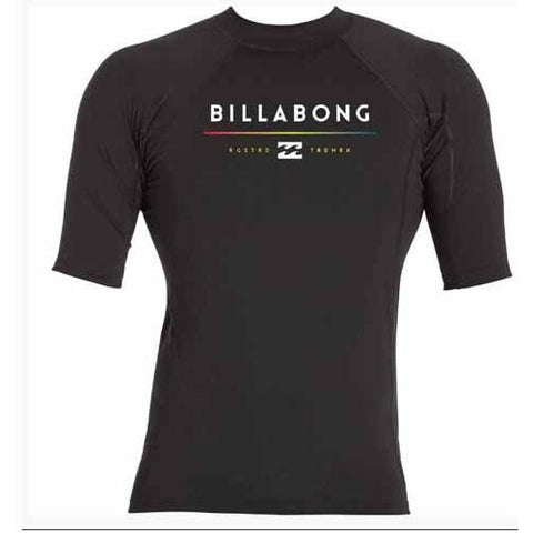 BILLABONG All Day Short Sleeve Rashguard Black MWLYEALS