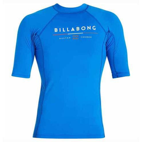 BILLABONG All Day Short Sleeve Rashguard Royal MWLYEALS