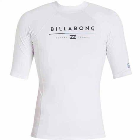 BILLABONG All Day Short Sleeve Rashguard White MWLYEALS