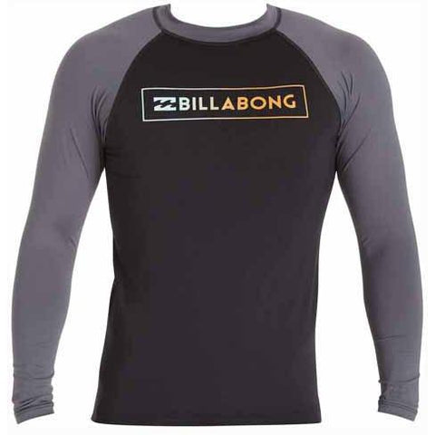 BILLABONG All Day Raglan Long Sleeve Rashguard Black MWLYEARL