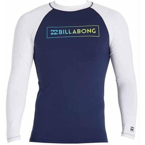 BILLABONG All Day Raglan Long Sleeve Rashguard Navy MWLYEARL