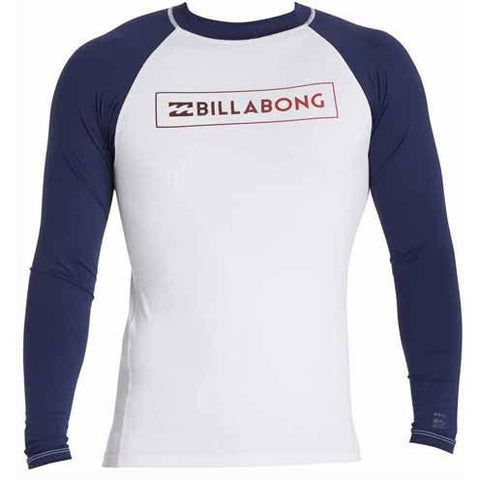 BILLABONG All Day Raglan Long Sleeve Rashguard White MWLYEARL